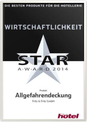 Auszeichung Star Award Hotelversicherung