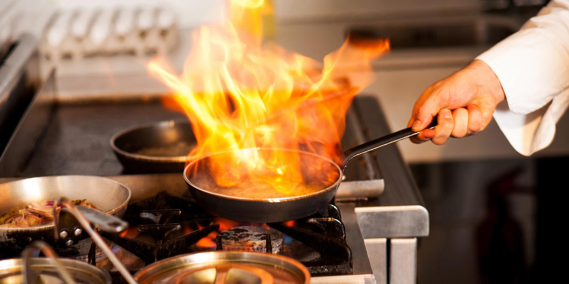 Küche Feuer