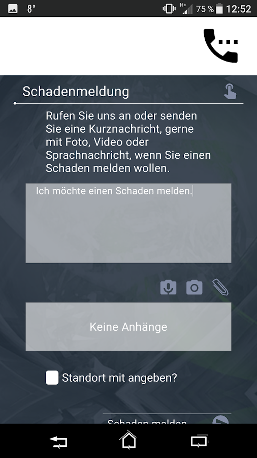Screen Versicherungsapp
