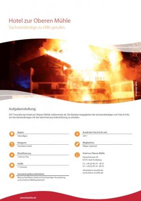 Brandschaden Hotel Versicherung